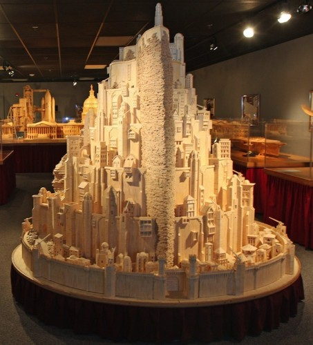 420,000 Matchsticks Form Lord of the Rings' Minas Tirith