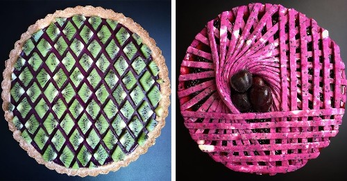 Baker Creates Geometric Pies With Mesmerizing Colors and Patterns