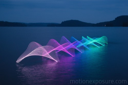 Long Exposure Photos Capture the Motions of Kayakers and Canoers Through Light and Color