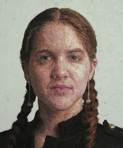 Missouri Artist Paints with Thread to Create Beautiful Embroidered Portraits