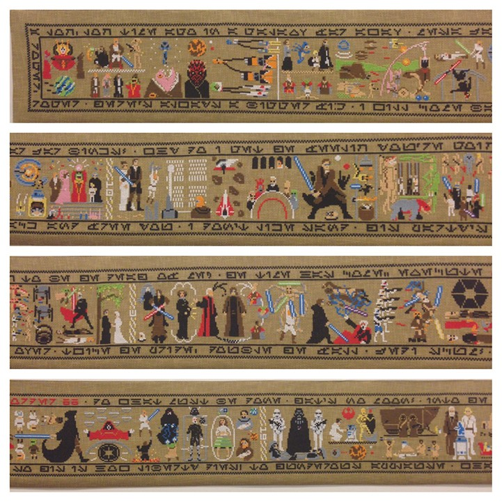 30-Foot Hand-Stitched Tapestry Tells the Story of Star Wars