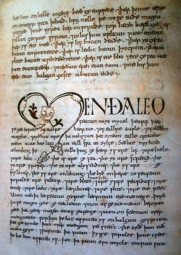 There Are Only Four Manuscripts Containing Old English Left in the World