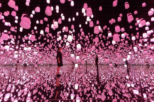 """Cherry Blossom"" Installation Lets You Get Lost in Endless Sea of Pink"