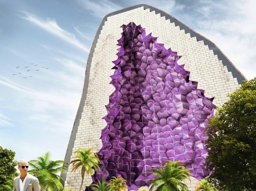 Hotel Design Inspired by a Cross-Sectioned Amethyst Geode