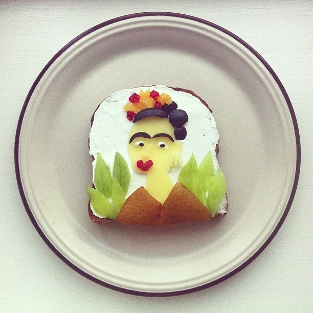 Playful Recreations of Classic Paintings on Toast