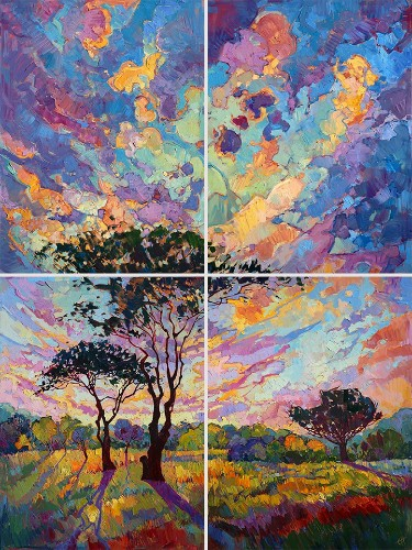 Gorgeous Open-Impressionism Paintings of Colorful Landscapes by Erin Hanson