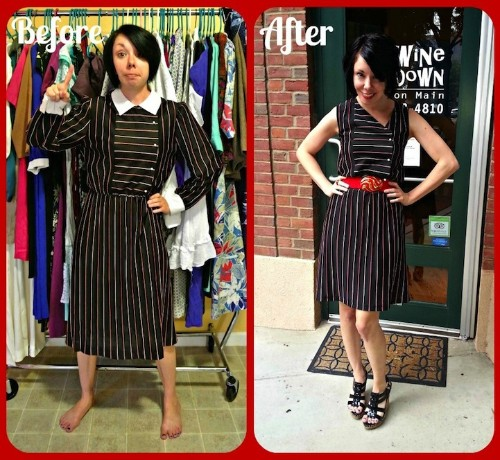 Designer Transforms One Dollar Thrift Store Clothes Into Trendy Outfits