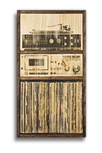 """""""Wall of Sounds"""" Celebrates Vintage Music Systems as Sepia-Toned Art"""