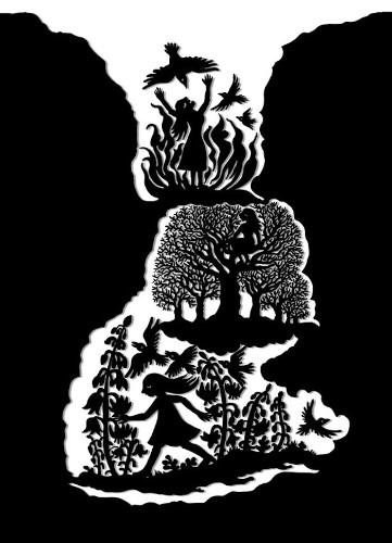 Striking Black and White Drawings Illustrate Brothers Grimm Fairy Tales