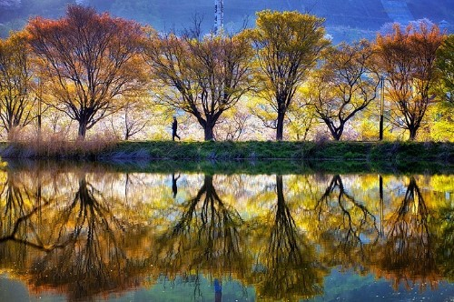 Photographer Captures Stunning South Korean Landscapes Reflected in Mirror-Like Lakes