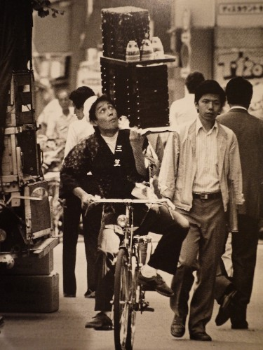 Vintage Photos of Japan's Old Art of Soba Delivery on Bicycles
