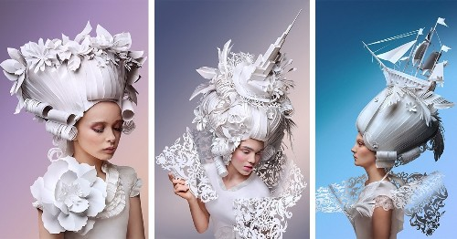 Artists Create Elaborate Baroque-Inspired Wigs Made Entirely of Paper