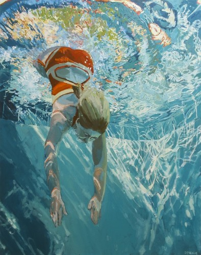 Glistening Underwater Oil Paintings by Samantha French