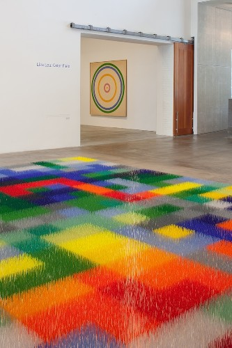 Abstract Geometric Field Composed of More than 2.5 Million Colorful Beads