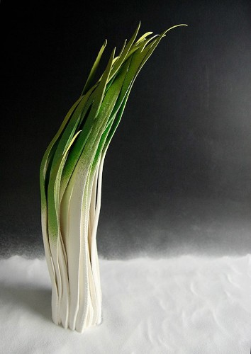 Ceramic Sculptures Brilliantly Imitate the Delicate Nature of Sprouting Grass