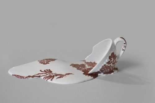 Ceramic Cups Melt Into Puddles of Patterned Porcelain
