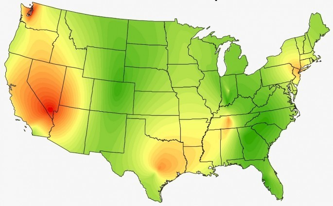 Heat Maps Show the Surprising Musical Preferences of the United States