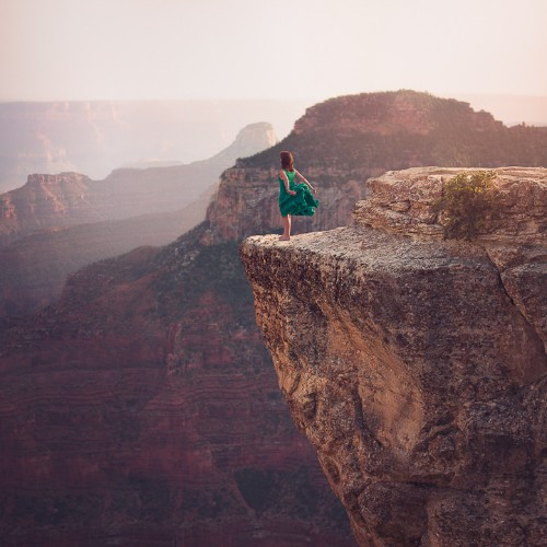 Interview: Gorgeous Self-Portraits Highlighting Beautiful Natural Landscapes by Michele Sons