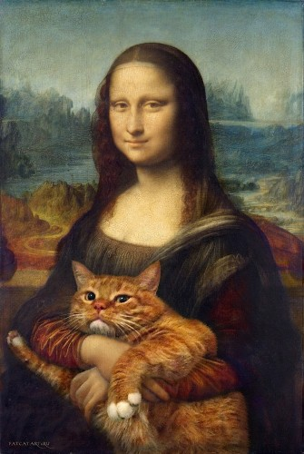 Adorable Fat Cat Invades the Most Famous Paintings in Art History
