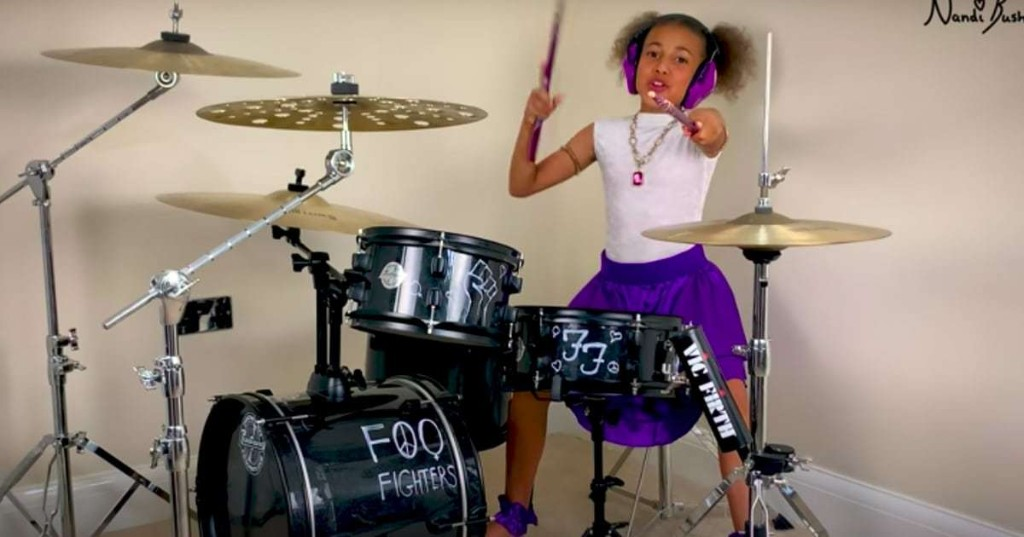 Dave Grohl Is in an Epic Online Drum Battle With 10-Year-Old Musician Nandi Bushell
