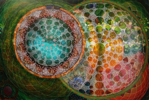 Hypnotizing Geometric Paintings Inspired by Sacred Mandalas