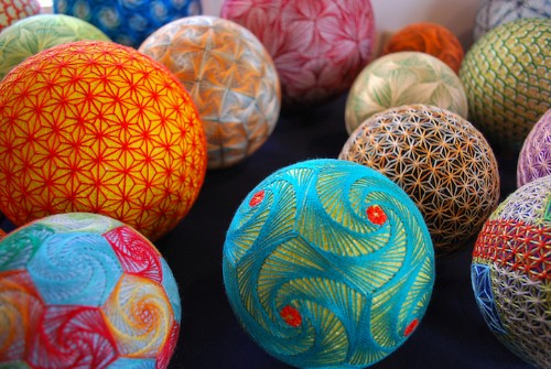 92-Year-Old Grandmother Creates Amazingly Complex Temari Balls