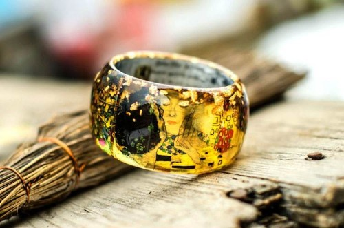 Colorful Resin Bangles Let You Wear Classic Art on Your Wrist