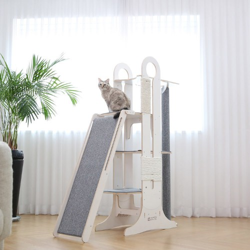 "Stylish Cat Tower is the ""Ultimate Playground"" for Fun-Loving Felines"