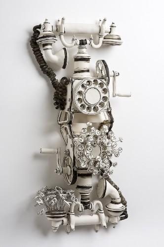 Playful Ceramic Sculptures Look Like 3D Paper Drawings