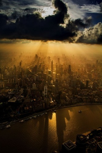 Crane Operator Captures Stunning Photos of Shanghai from Above