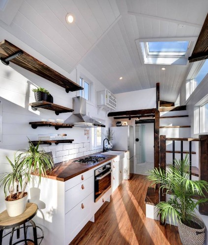 This Rustic Tiny House on Wheels Offers a Stylish Alternative to a Typical Motor Home