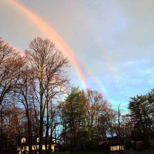 Incredibly Rare Quadruple Rainbow Recently Seen in New York