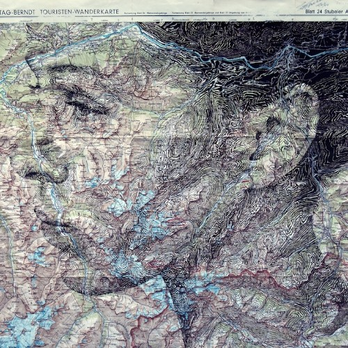 New Cut and Contoured Map Portrait by Ed Fairburn