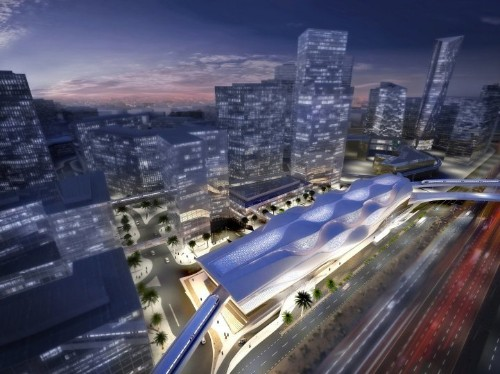 Zaha Hadid's Sleek Metro Station in Saudia Arabia