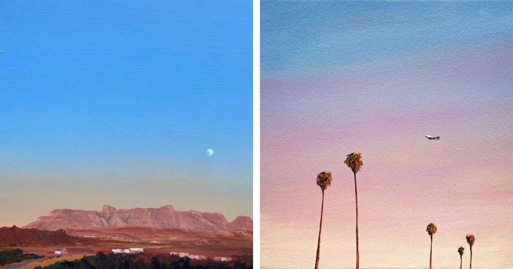 Cotton Candy-Colored Landscape Paintings Showcase the Tranquil Beauty of Western Skies
