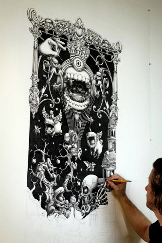 New Intricately Detailed Graphite Drawings by Joe Fenton