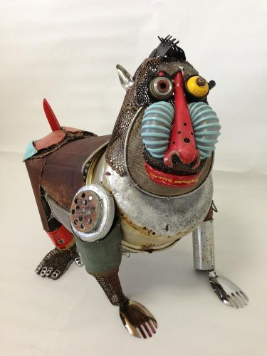 Playful Animal Sculptures Made of Salvaged Materials