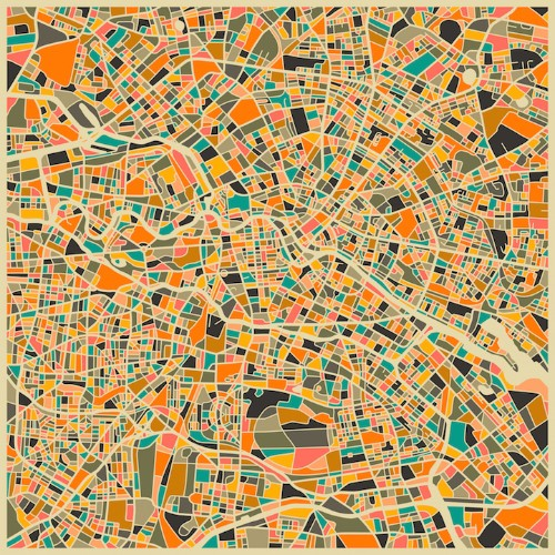 New in the Shop: Beautifully Abstract City Maps by Jazzberry Blue