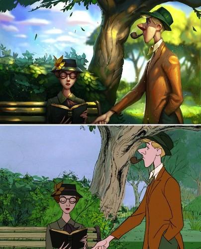 Classic Disney Film Stills Digitally Repainted to Look 3D