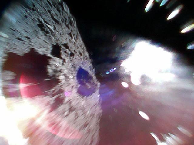 First Photos From Historic Landing of Japanese Rovers on an Asteroid