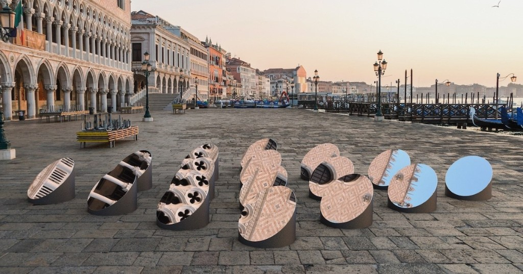Clever Rotating Mirror Installation Reflects Deconstructed Views of Venetian Architecture