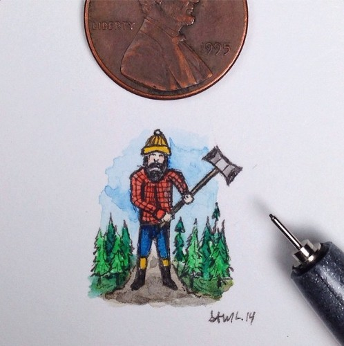 Charmingly Detailed Illustrations That Are Smaller than a Penny