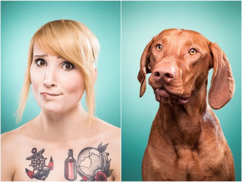 Pet Owners Mimic Their Dogs in Adorable Look-Alike Portraits