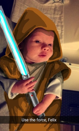 "Creative ""Snapdad"" Uses Snapchat to Transform His Son into Pop Culture Icons"