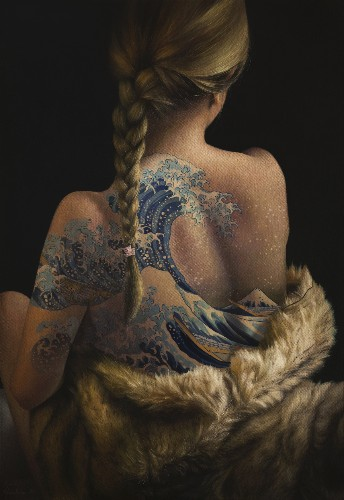 Women with Tattoos of Fine Art Masterpieces Are Actually Oil Paintings Themselves