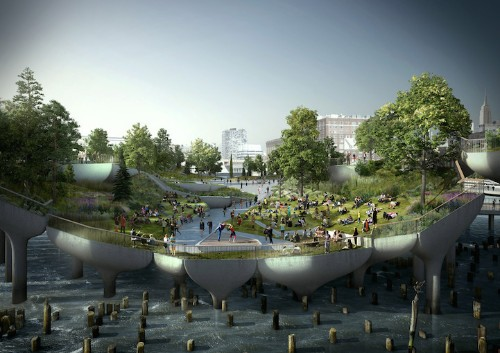 Lush Floating Park Plans Unveiled for New York's Waterfront