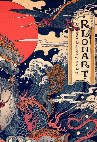 Vivid Illustrations Depict Dynamic Scenes of Nature and East Asian Mythology