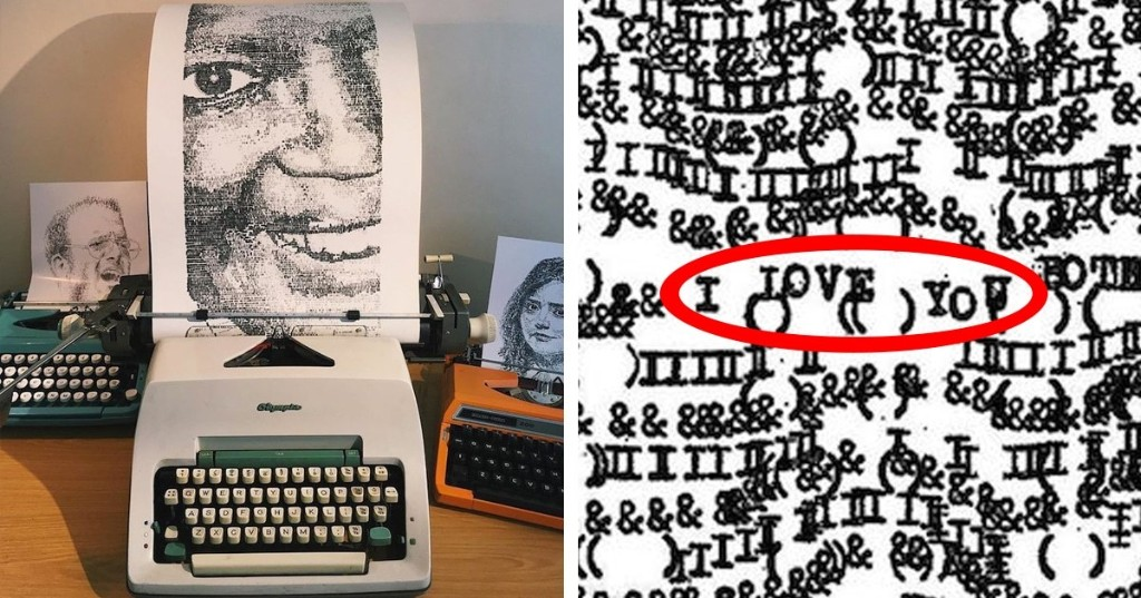 Amazing Art Created With Typewriters Have Hidden Messages Within Them