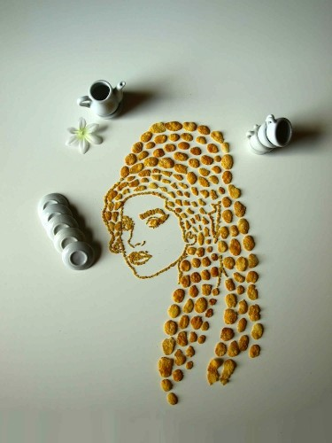 Clever Portraits of Famous People Constructed with Corn Flakes
