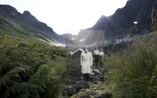 Historic Images Superimposed on Present-Day Landscapes Of Norwegian Fishing Villages